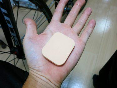 スポンジパフを用いた手の痺れ対策法