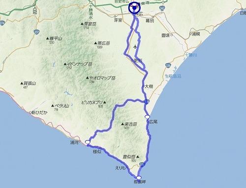 クローバー1200 : 1日目(襟裳・様似方面) 0~315km