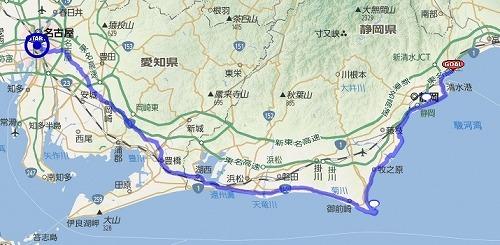 いってこいビワイチ1000 : 3日目 名古屋~興津(670~904km)