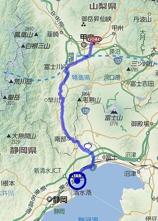 いってこいビワイチ1000 : 4日目 興津~石和温泉(904~1003km)