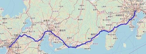 キャノボ最短ルートは何kmになるのか?